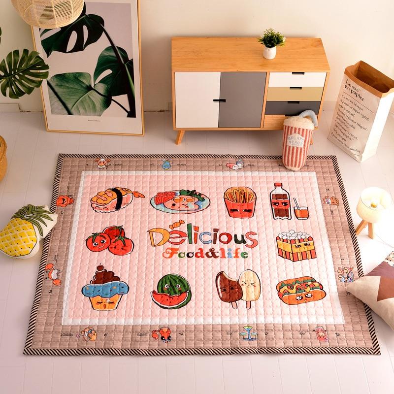 Honlaker Baby Cartoon Crawling Mat Children Play Cotton Rug Comfortable Breathable Environmental Constellation Carpet