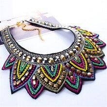 Female vintage choker pendants&necklaces big boho necklaces ethnic bohemian jewelry statement tribal Colorful bijoux femme mujer