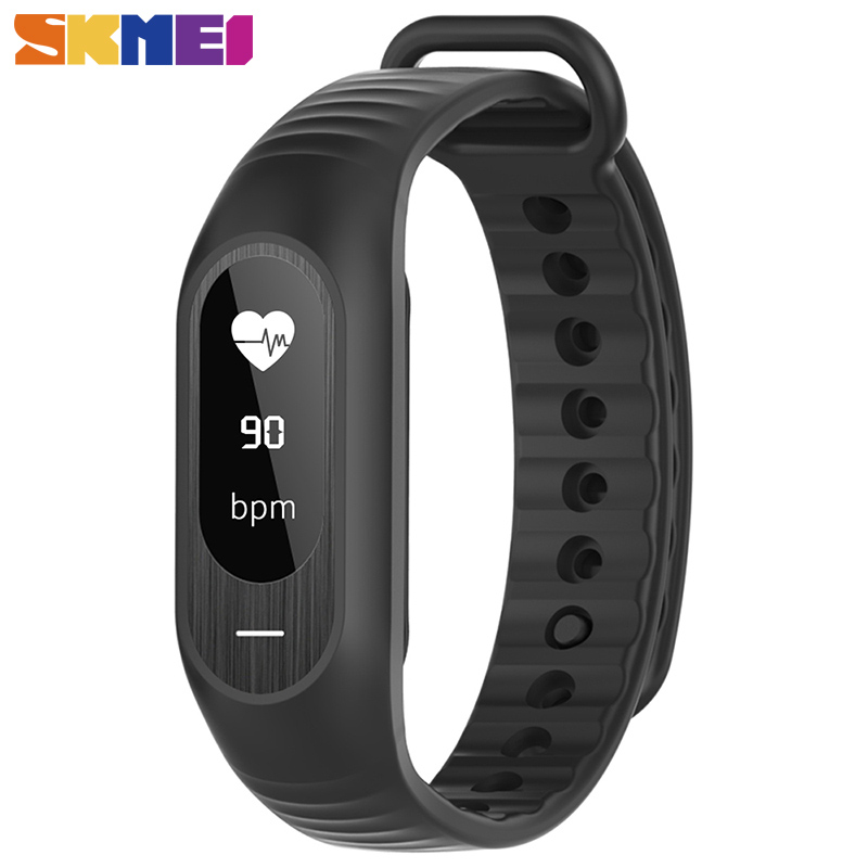 SKMEI Women Men Wristband Pressure Heart Rate Monitor Smart Bracelet Sleep Pedometer Smart Watch Bluetooth Message Reminder skmei fashion smart watch pedometer sleep heart rate monitor waterproof ladies smart wristband ios android women sports watches
