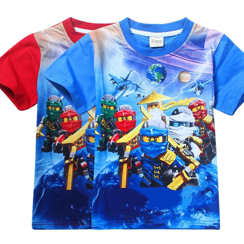 2017 Summer Children's Clothing Baby Boys Girls T-shirt Ninja Ninjago Cartoon Cotton T-shirt Kids Tops Tees T Shirts 3-9y