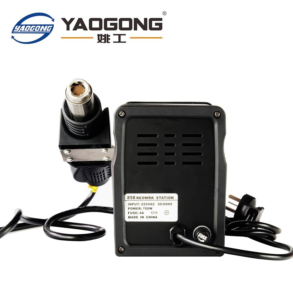YAOGONG mobiiltelefonide remonditööriistad 858A smd kuuma õhu - Keevitusseadmed - Foto 3