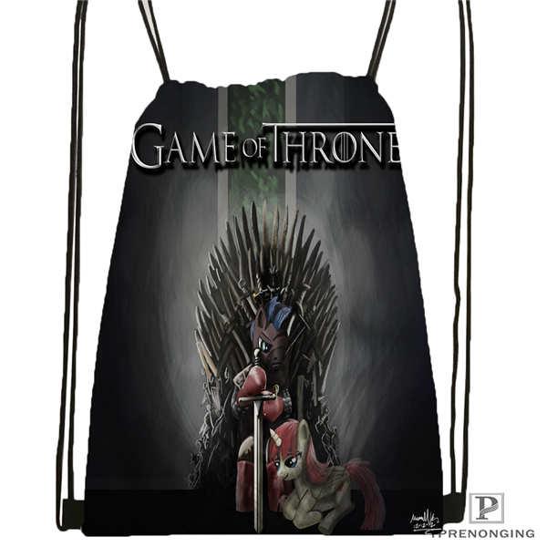Custom Gray_the_game_of_thrones-Drawstring Backpack Bag Cute Daypack Kids Satchel (Black Back) 31x40cm#180611-03-132
