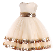 Girls dress Dresses Fashion Sequins Princess Dress Children Ball Gown Weddings Party