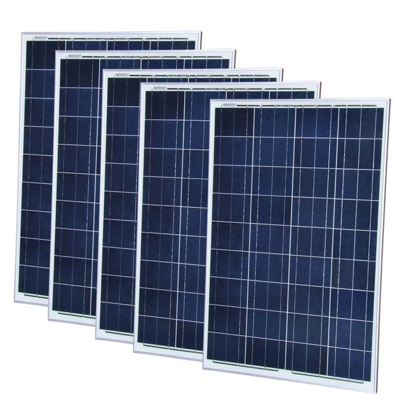 Panneau solaire 12 v 100 W 5 Pcs/Lot Panneaux Solaires 500 WSolar Charge batterie solaire système domestique camping-car bateau marin ventilateur solaire