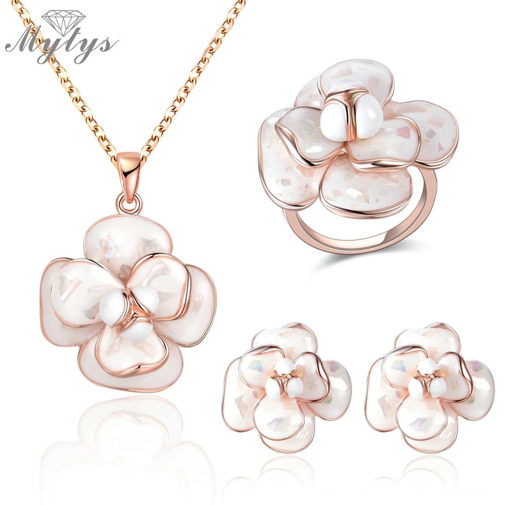 Mytys Kvalitetni setovi nakita za cvijeće od emajla Ogrlice i naušnice Setovi za žene E36 CN255 R681