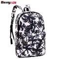 Mujeres de la impresión mochilas mochila para las mujeres y los hombres mochila de lona de la manera bolsos retro bolsas escuela casual bolsas de viaje