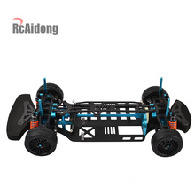 цена на Aluminium Alloy & Carbon Shaft Drive 1/10 4WD Touring Car Frame Kit for 1/10 RC TAMIYA TT01 TT01E On-Road Drift Car