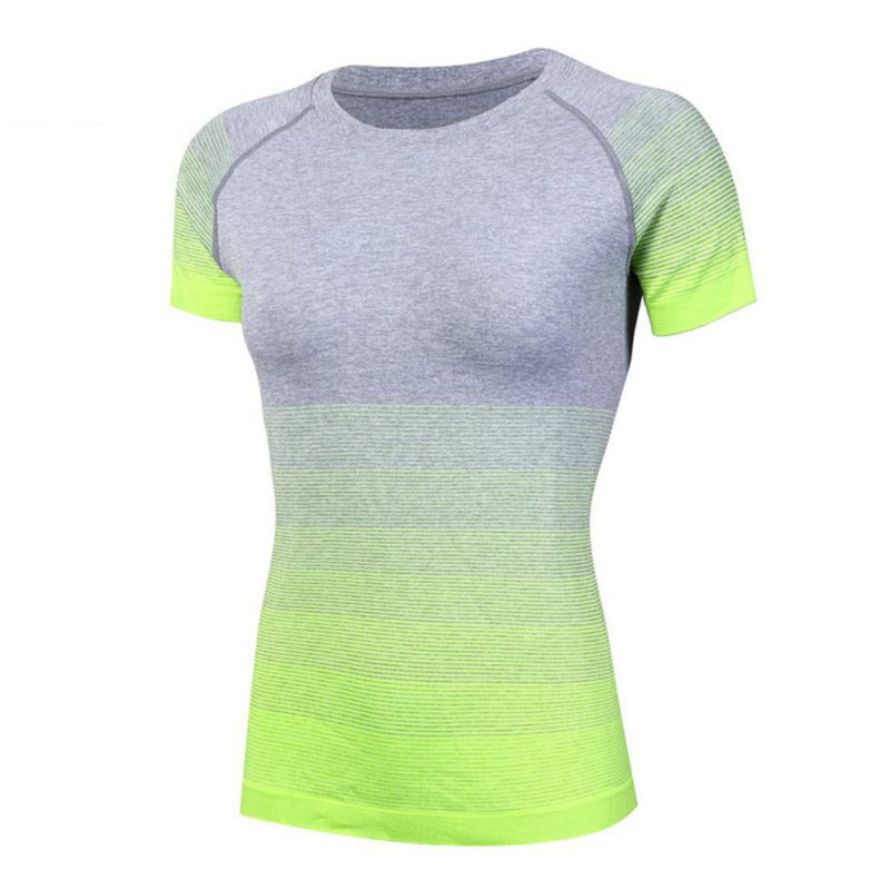 Women Dry Quick Running T Gym Compression Shirts Sport T-shirts Summer Short Sleeve T-shirts Fitness Clothes Tees & Tops