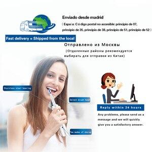 Image 5 - Elektronische zahnbürste elektrische zahnbürsten vibrations Wiederaufladbare zahn pinsel dental care USB ladung zähne reinigung für erwachsene 4