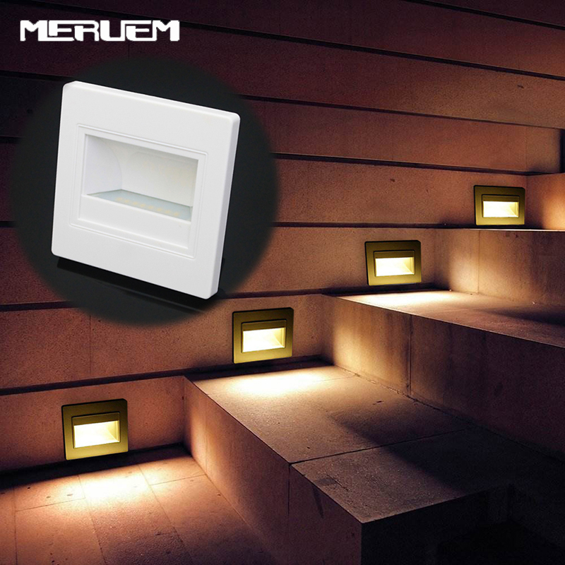 Us 7 11 31 Off Stairway Lamps Stair Lights Wall Lamp Ac 85 240v Led Ground Footlight Warm White 2700k 3500k Modern Indoor Lighting In