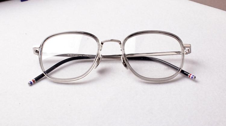 2017 thom Computer Lenses Round Eyeglasses Optical Vintage Spectacle Frames tb906 Retro Prescription Eyewear  Oculos De Grau