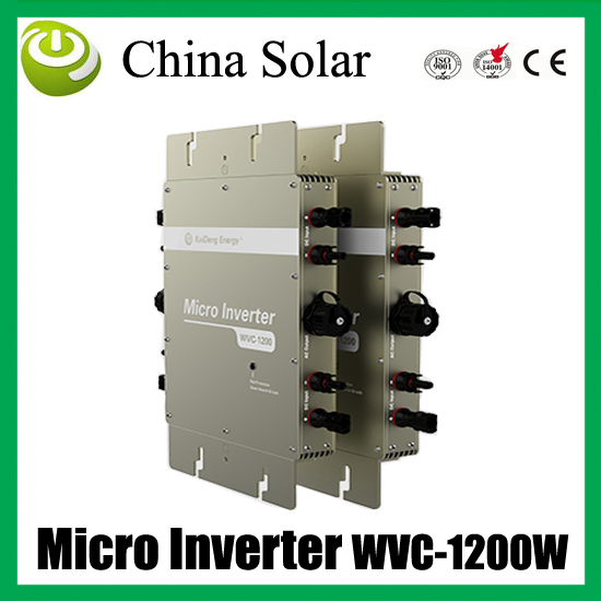 1200W  high efficiency& competitive price solar grid tie micro inverter can connect 4 panels *300 watt high quality 1200w solar grid tie micro inverter high efficiency