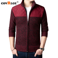 Covrlge Brand Sweater Men Cardigan 2018 Autumn Winter New Mens Wool Sweaters Patchwork Thinker Warm Casual Knit Jacket MZM039