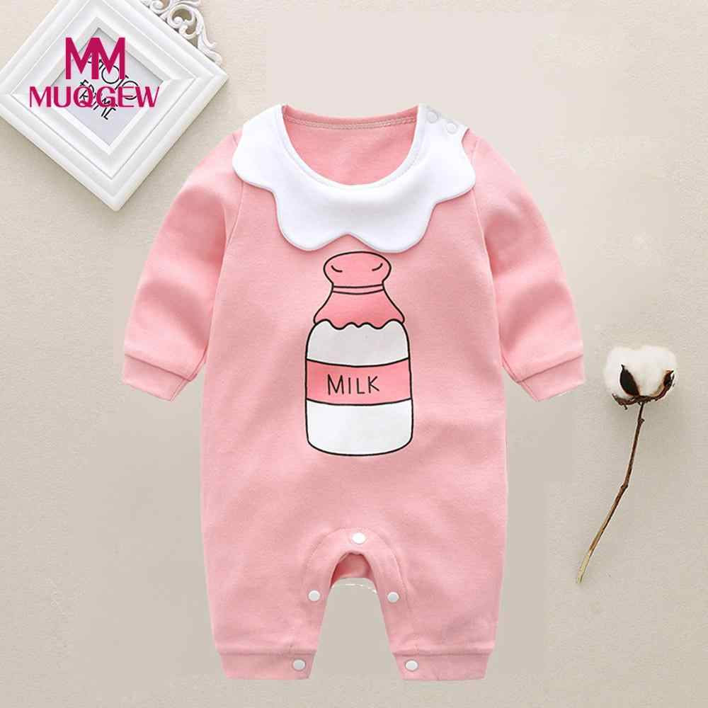 6388953e76c0 MUQGEW Autumn kids baby rompers infant girls clothes newborn jumpsuit Milk  Bottle Letter printed romper bebes