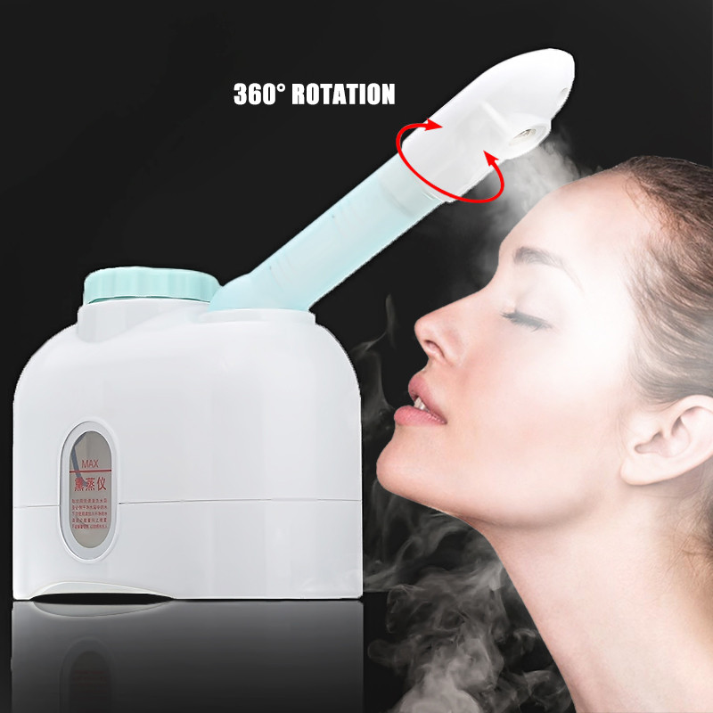Facial Steamer Ozone Sprayer Mist Sprayer SPA Steaming Machine Beauty Instrument Essential Oil Massage Face Skin Care Tools