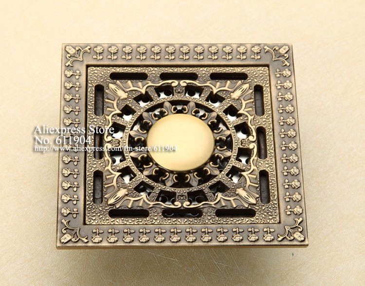 ФОТО Antique Brass 12CM Bathroom Wetroom Laundry Square Shower  Washing Machine Drain Floor Trap Waste Grate 3712150A