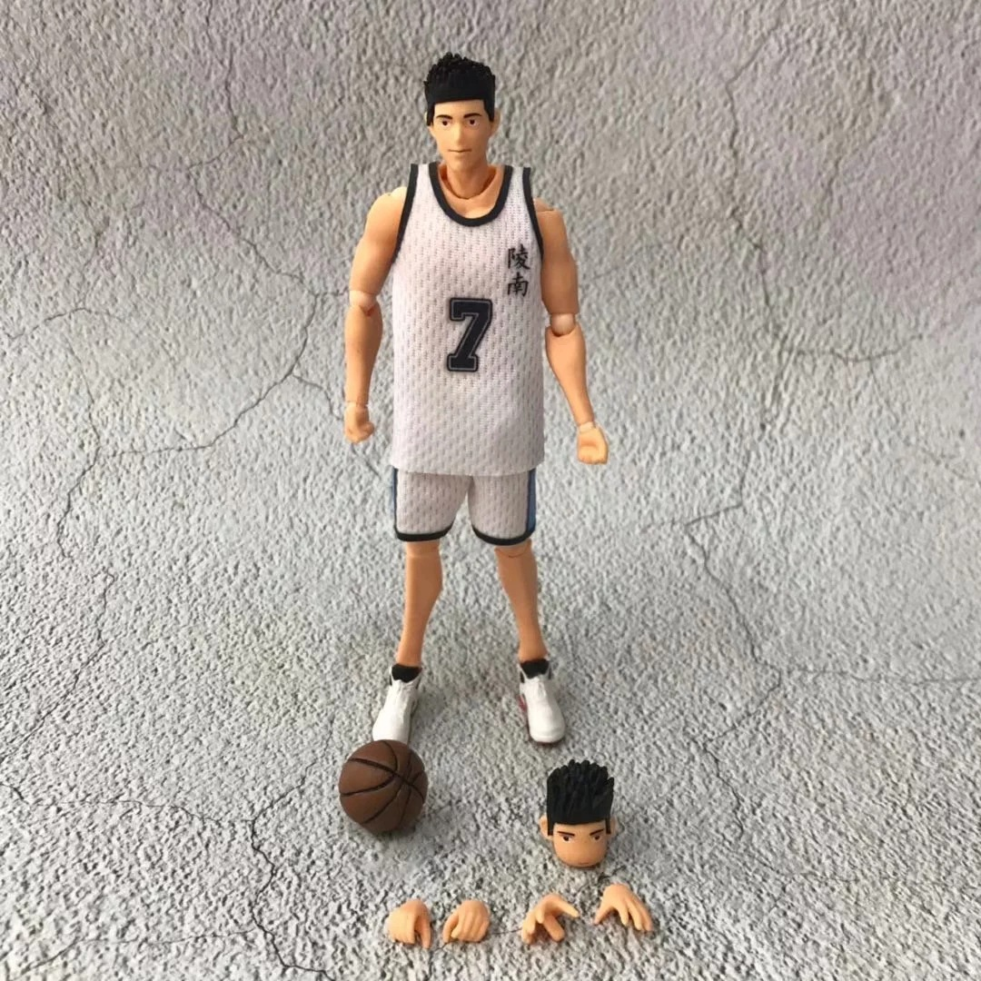 Japan Anime SLAM DUNK Sendoh Akira 7 Basketball Player Figure Model Toys image