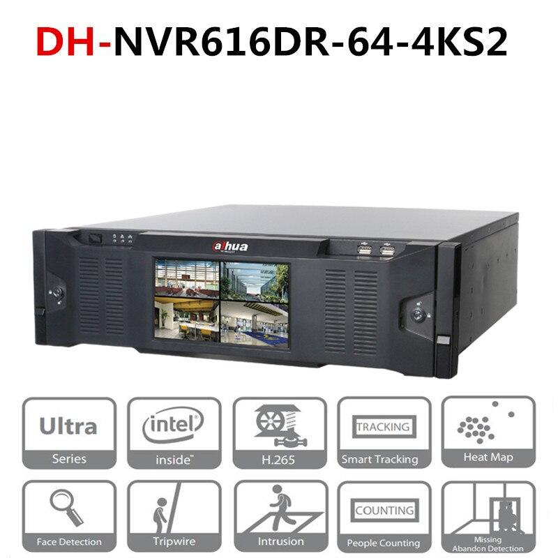 Enregistreur vidéo réseau DH 64 canaux Ultra 4 K H.265 iSCSI et Mini SAS pour espace de stockage élargi DH-NVR616DR-64-4KS2 avec Logo