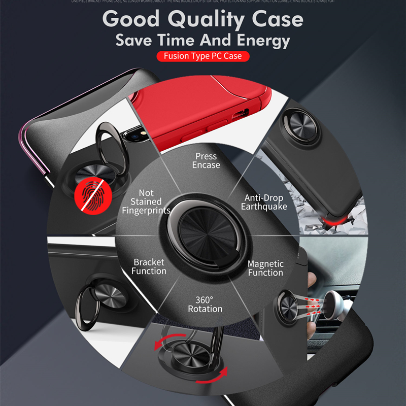 Case for OPPO R9S 11S 15 17 Plus F1 2 3 5 7 Pro A3 59 77 Find X Car Magnetic Suction Bracket Finger Ring Soft TPU Back Cover in Fitted Cases from Cellphones Telecommunications
