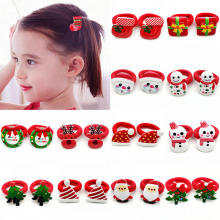 iMucci Fashion Kids Girls Lovely Christmas Children Santa Claus Tree Elastic Rubber Bands Hair Rope Accessories