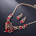 Hot Sale Paint Butterfly Jewelry Sets Gold Plated Colorful Dubai Jewelry Necklace Set Turkish Jewelry Bridal Jewelry Sets