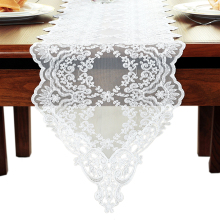 1pcs Lace Table Runner Table Flag European Rectangular Table Cloth TV Cabinet Cover Cloth Wedding Decoration Home Party Supply proud rose lace table runner table flag tablecloth european rectangular table cloth tv cabinet cover cloth wedding decoration