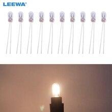 LEEWA 10 pcs Xe T3 12 V 30MA Halogen Bóng Đèn Bên Ngoài Đèn Halogen Bảng Điều Khiển Thay Thế Bóng Đèn Ánh Sáng Trắng Ấm # CA2687