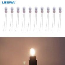 Leewa lâmpada de halogênio para substituição, lâmpada de halogênio externa t3 12v 30ma, 10 peças, para painel, branco quente ca2687
