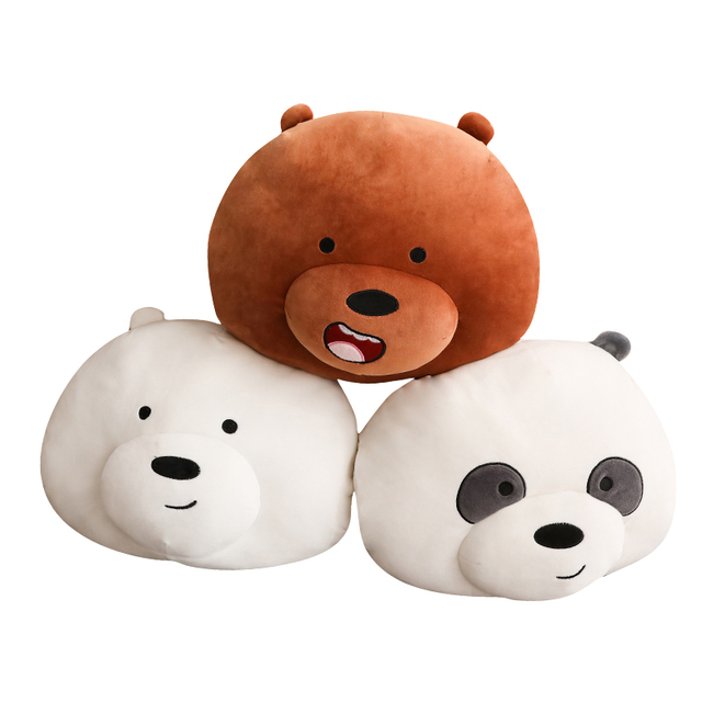 cbbda52713b9 35cm We Bare Bears Plush Pillow Soft Cute Cartoon Bear Stuffed Animal  Handwarm Sofa Decoration Cushion