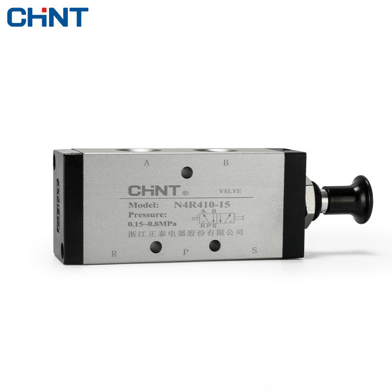 CHINT Hand Pull Valve Mechanical Valve Manual Valve Pneumatic Switch Two Position 5 Through 4R410-15 3r310 10 2 position 5 way g3 8 port size hand push pull mechanical valve