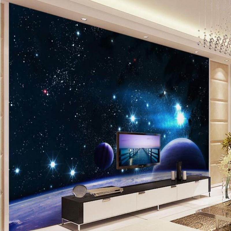 Beibehang personalized custom wallpaper 3d mystery outer - Space wallpaper room ...