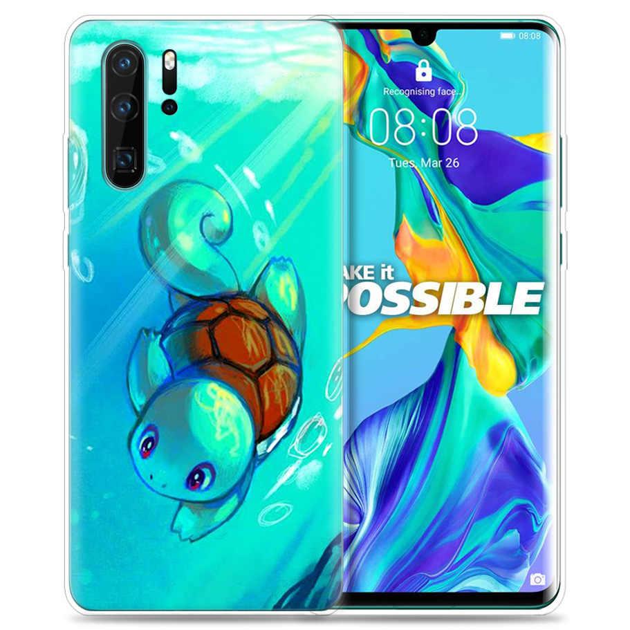 Funda para Huawei P30 P20 P10 P9 Mate 10 20 Lite Pro bolsa de teléfono móvil P Smart Z 2019 Plus dibujos animados de pokemon P8 P30Pro P20lite