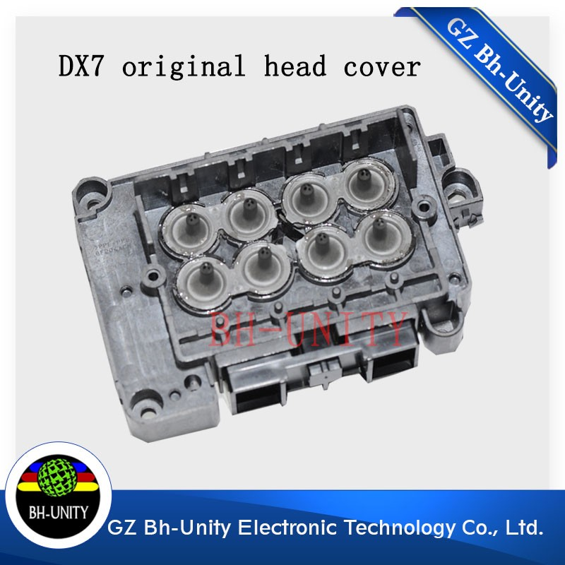 100% original!! DX7 Head cover for Epson DX7 eco solvent printhead for xenons wit color inkjet printing machine parts 1pc eco solvent dx7 printhead cover f189000 manifold adapter for large format wit color smartcolor xenons printer