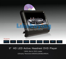 9 inch Car Headrest DVD Player with digital screen 800×480 resolution support 720P Video playing 32 Bit games