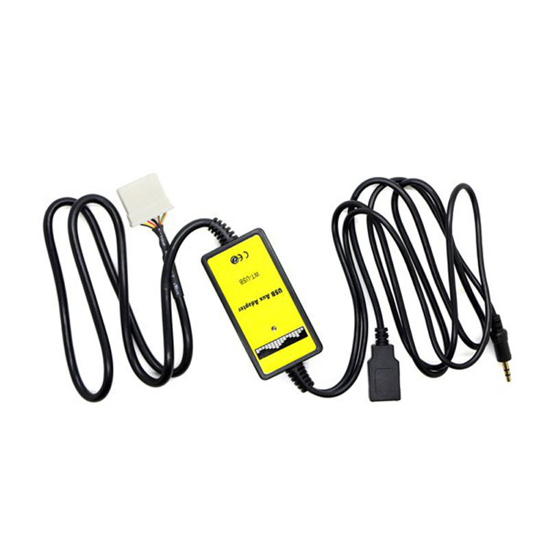 imágenes para USB AUX coche Zócalo Adaptador del Cambiador de La Música Digital para Mazda 2 3 5 6 Para el iphone 5 6 iPod