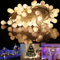 Lighting String 10m 100 Matte Ball Warm White LED String Wedding Party Fairy Christmas Light l7106
