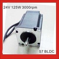 24V 57 Brushless DC Motor 3000rpm 0.4N.m (55.6oz in) 125W Nema 23 Brushless 3 Phase