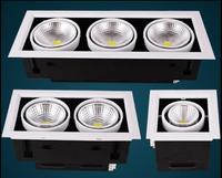 2pcs COB LED Downlights 10w 20w 30w Surface Mounted Dimmable LED Ceiling Lamps Spot Light Square