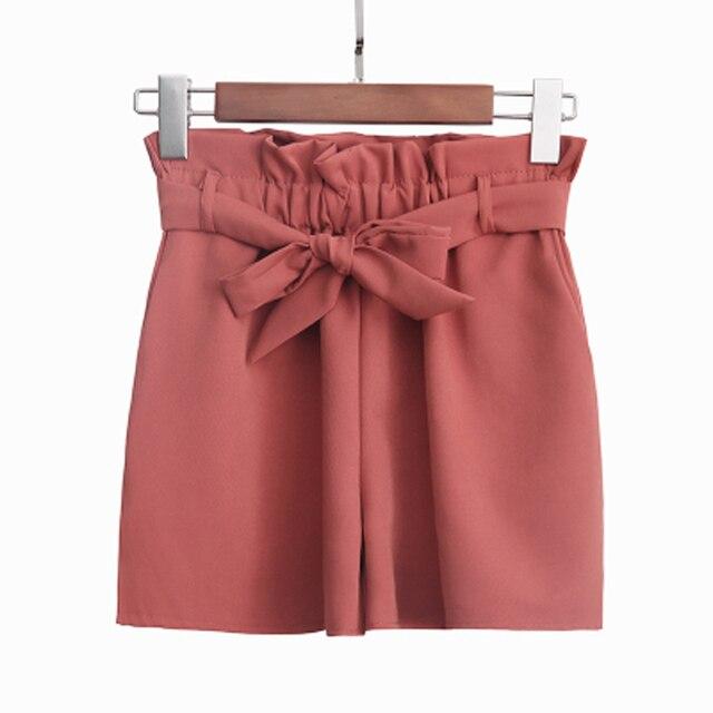 BGTEEVER Ceintures Élastique Taille Shorts Femmes Cinched Ceinture Taille  Haute Shorts 2018 D été Femelle Large Jambe Courte Casual Bas femme - FR. fc4bd15b49c