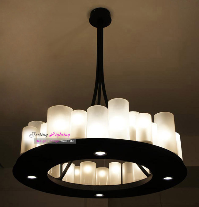 modern metal frosted glass 70cm length kevin reilly pendant lamp france country style candle. Black Bedroom Furniture Sets. Home Design Ideas