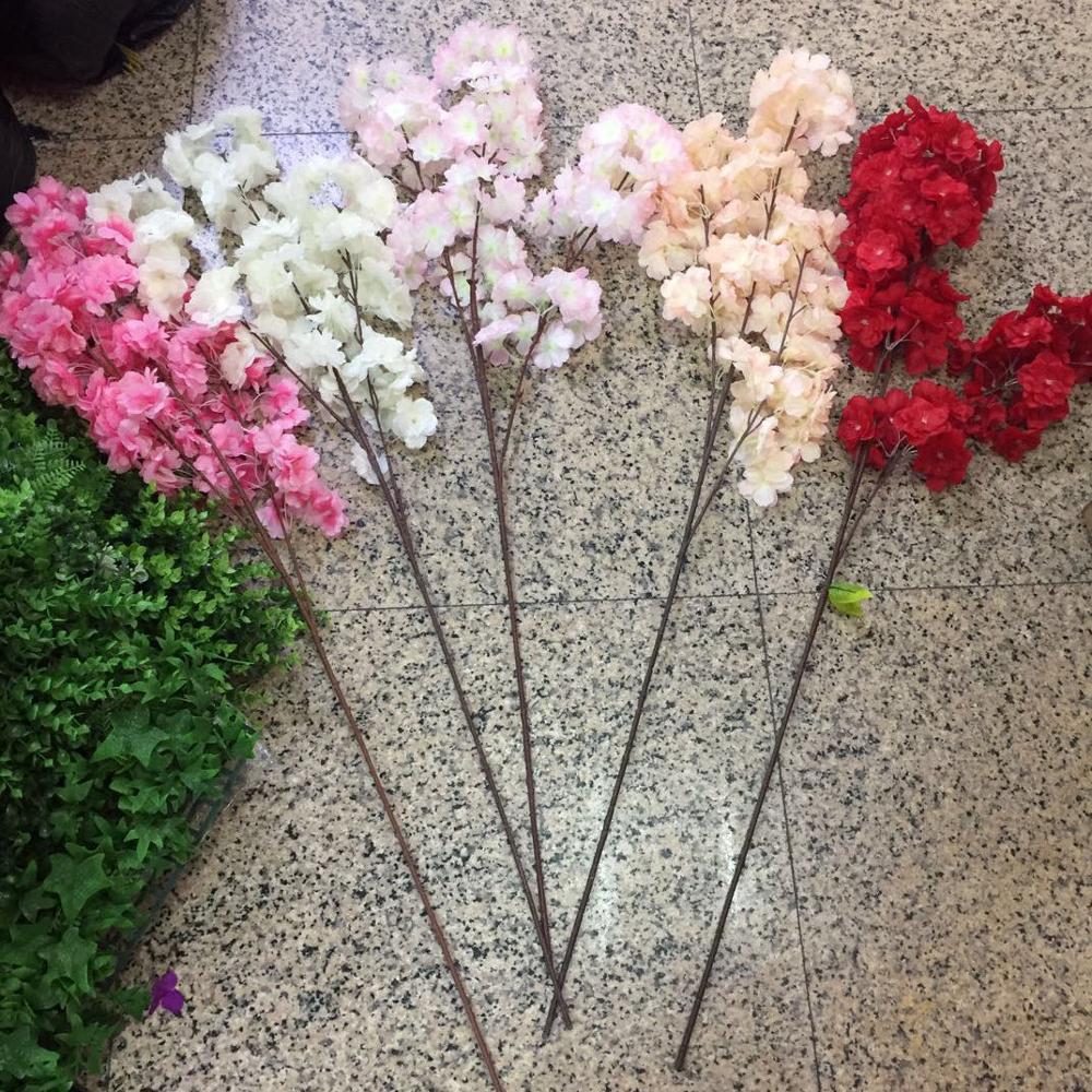 Искусственные 50 веток высокого класса симуляция вишни цветы растения японский стиль поддельные Свадебные украшения дома