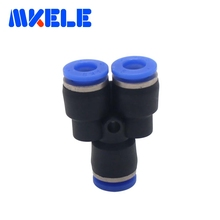 Plastic air line fittings 3 Way Y TypePY 6mm plastic pipe connectors with lowest price High quality 1pcs Free shipping