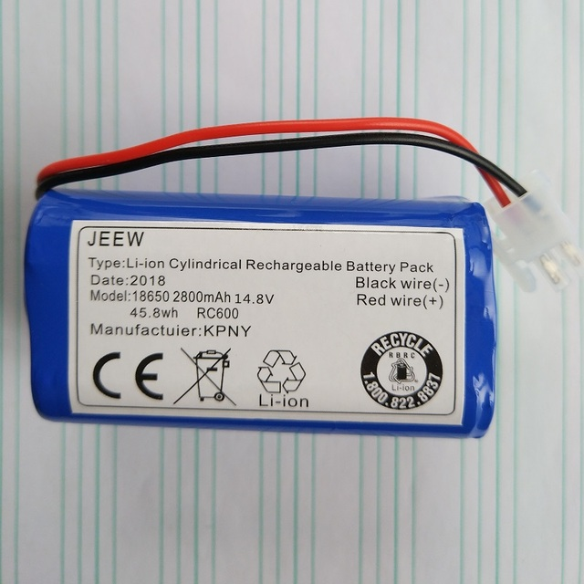 14.8V Battery for Chuwi ILIFE V7 V7s A6 V7s pro Robot Vacuum Cleaner Lithium 18650 Rechargeable Accumulator Replacement 2800mAh