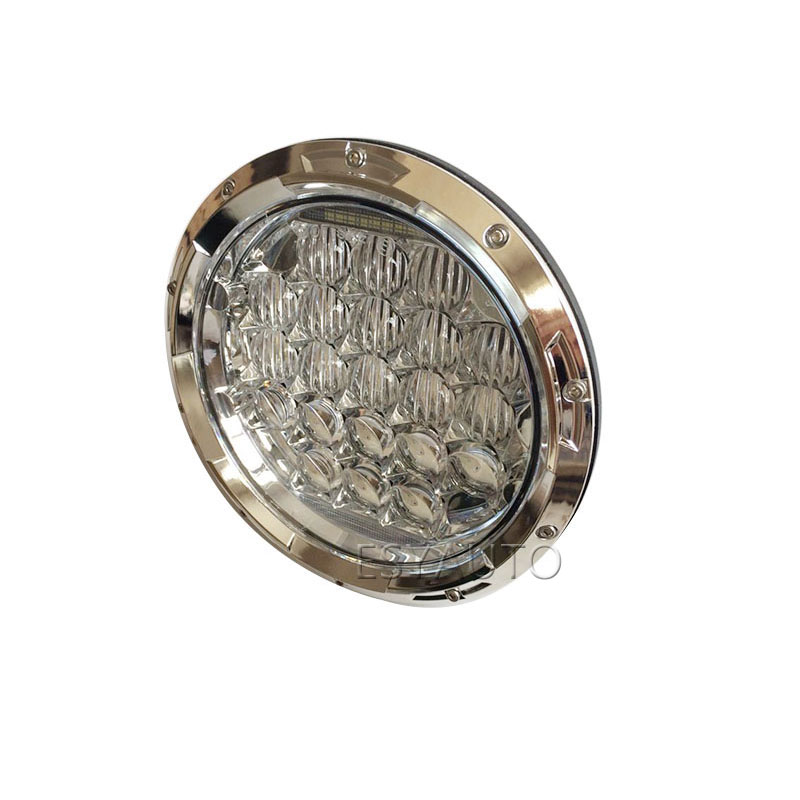 New! 1Piece Silver Round 7'' LED Headlight 75W 6000K Motorcycle Projector Daymaker Headlamp for Harley Davidson литой диск replica mi38 7 5x18 6x139 7 d67 1 et46 silver