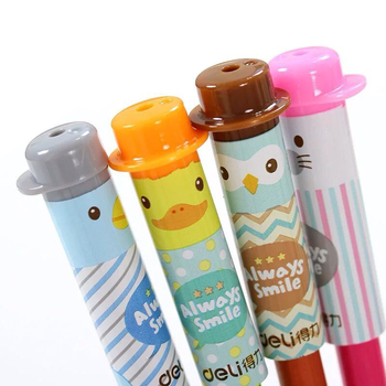 4 Pcs/Lot Pencil Cap Cute Kawaii Silicone Cartoon Pencil Extender Pen Toppers Students Stationery image