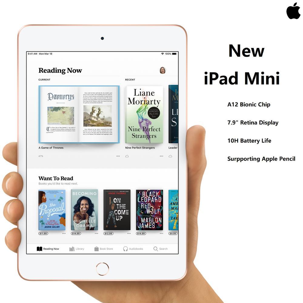 "New Apple iPad Mini 5 7.9"" Retina Display A12 Chip TouchID Super Portable Supporting Apple Pencil IOS Tablet Super Slim"