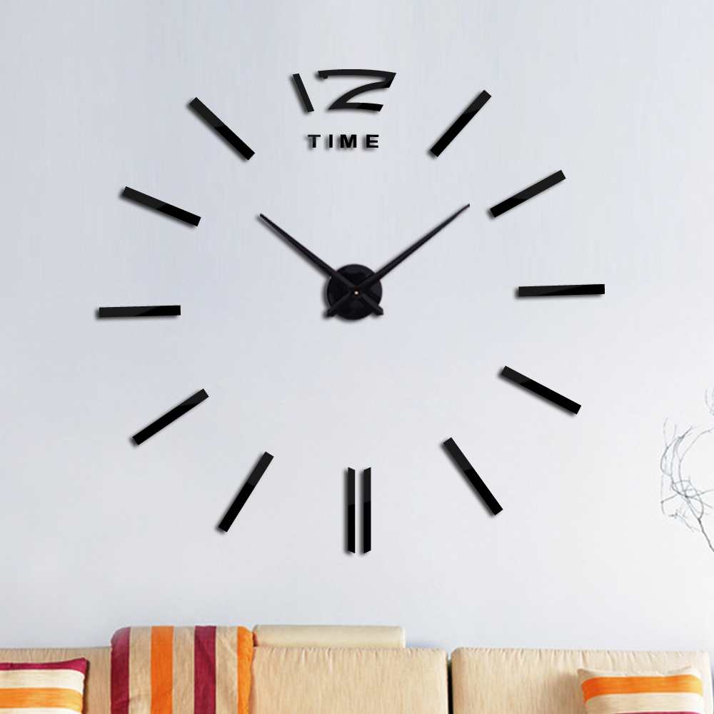 New 3d House Clock Wall Clock Design Acrylic Mirror Clocks Stickers Accessories Decorative Living Room
