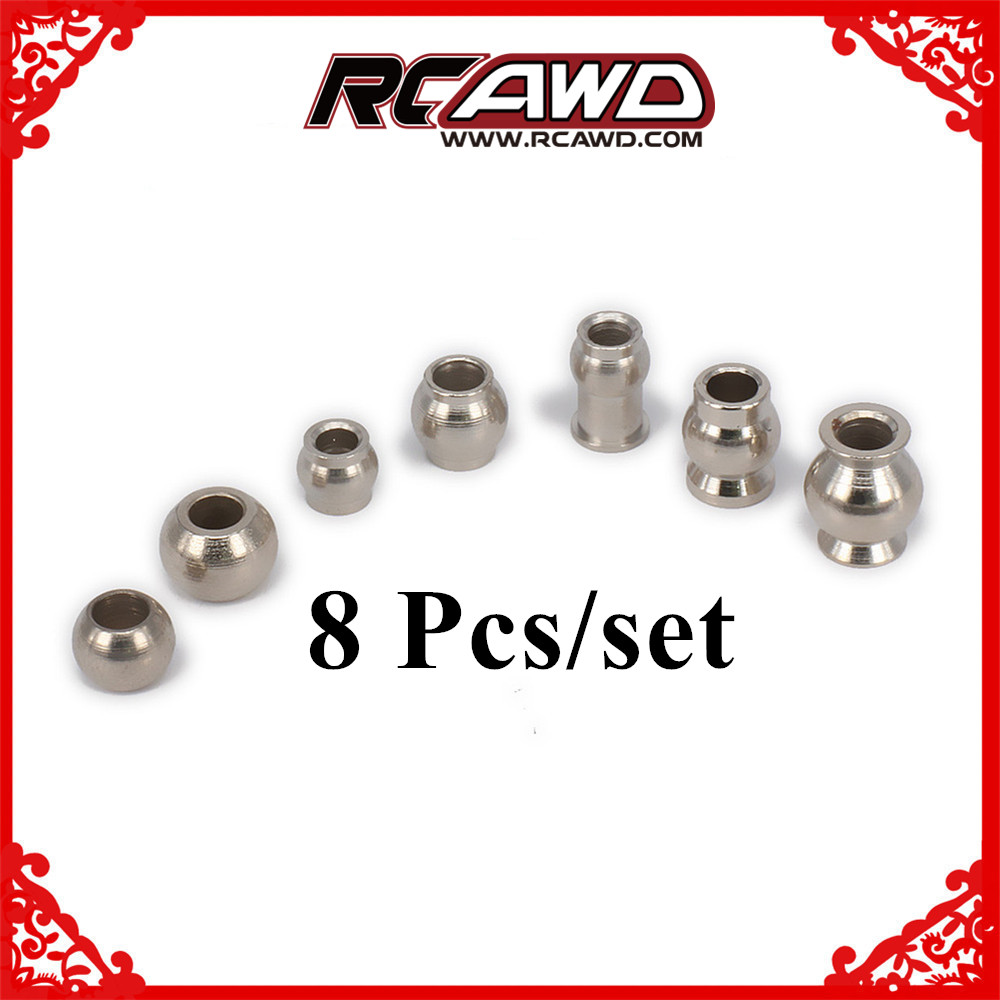 8 Pcs Ball Head Of Shock Absorber Damper For Kyosho 1/8 1/10 1/16 1/18 Himoto Rc Car Hpi Hsp Traxxas Losi Axial Tamiya Redcat