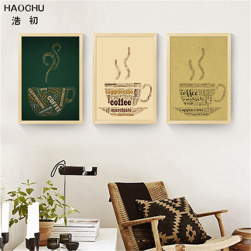 HAOCHU Retro nostalgia creative COFFEE CUP TOWER Murals WALL ART ...