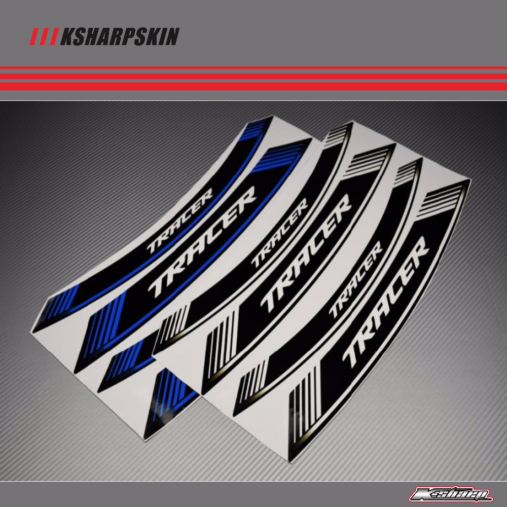 8 X CUSTOM INNER RIM DECALS WHEEL STICKERS STRIPES STRIPS SPECIALS FIT YAMAHA TRACER 700 900 GT MT 07 MT 09